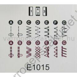 Janome  Sakura  95 varrógép  programok
