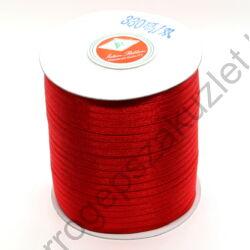 Kétoldalas szatén szalag 3 mm - piros - 300méter