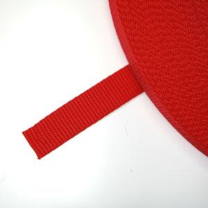 20 mm széles heveder - piros  (820)