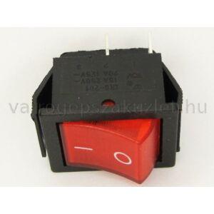 Kapcsoló, billenő, világítós, piros 0