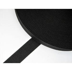 Nadrágkoptató szalag 14 mm széles  -  fekete