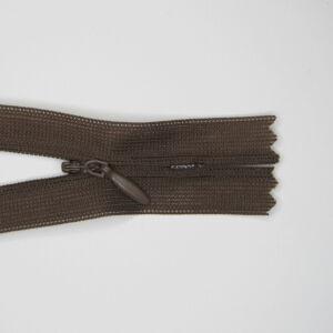 Rejtett cipzár 25 cm  - sötét barna 303