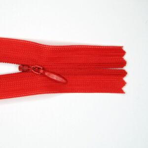 Rejtett cipzár 60 cm  - piros 162