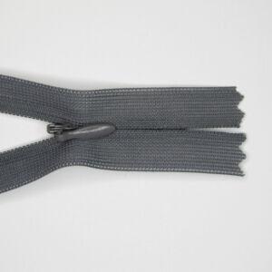 Rejtett cipzár 25 cm  - közép szürke - 319
