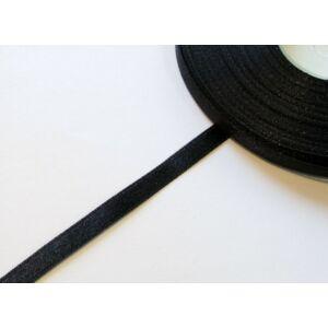 Szatén szalag 6 mm - fekete