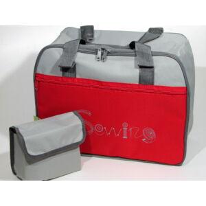 Varrógép táska - piros / szürke