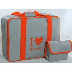 Varrógép táska - szürke/narancs