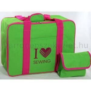 Varrógép táska - zöld