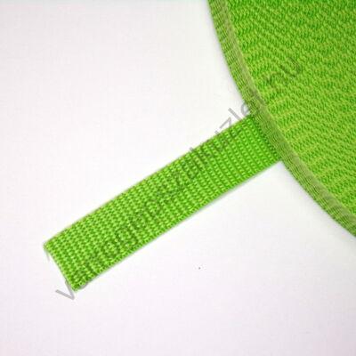 20 mm széles zöld  heveder