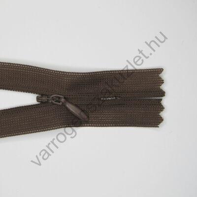 Rejtett cipzár 30 cm  - barna 303